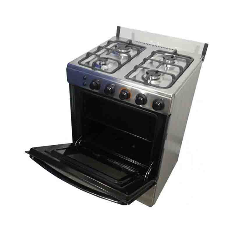 Nasco 4 Burner Gas Cooker With Lighted Oven Nasgc Lme60i